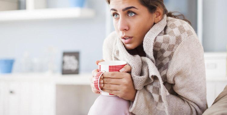 Озноб может вызывать низкая температура