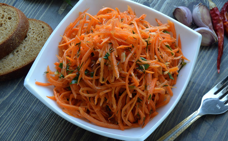 Морковь по-корейски для диабетиков